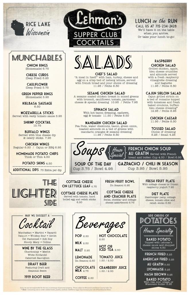 lehmans menu page 1