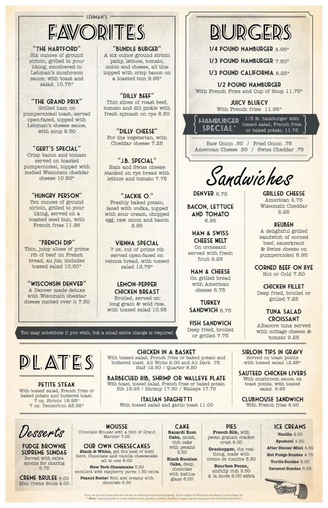 lehman's menu page 2
